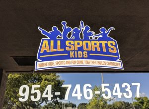 all sports kids storefront logo decal