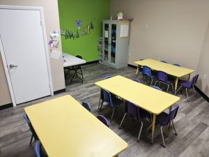 all sports kids room with tables and chairs