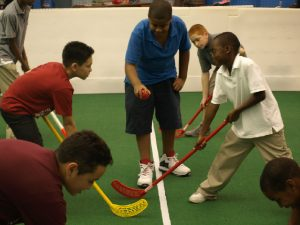 all sports kids floor hockey game