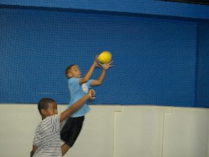 all sports kids catching dodgeball