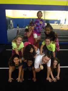 all sports kids cheer pyramid