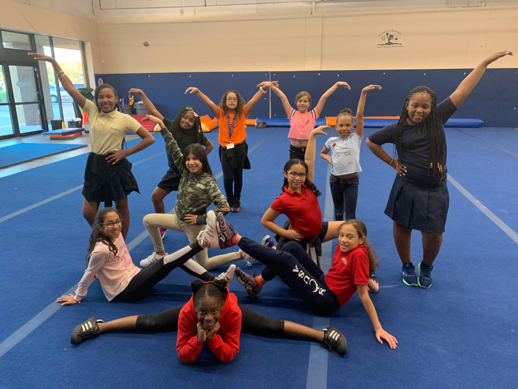 all sports kids cheerleading squad