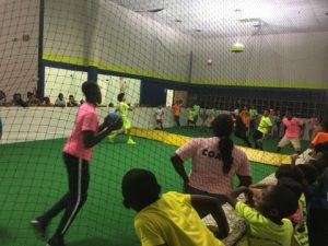 all sports kids playing dodgeball