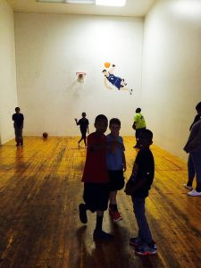 all sports kids indoor basketball half court