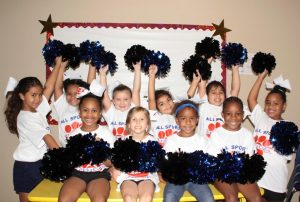 all sports kids young cheerleaders